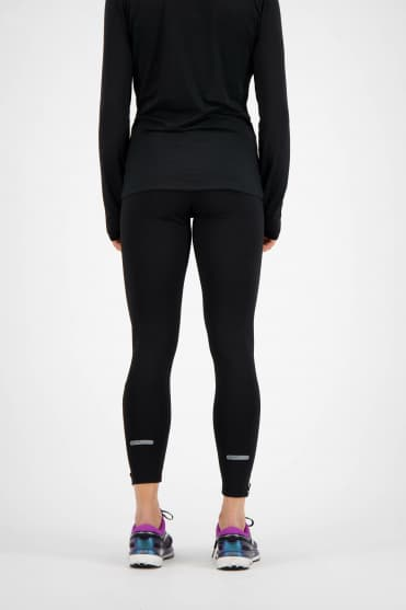 Ocieplane damskie spodnie do biegania ANDERSON - czarne
