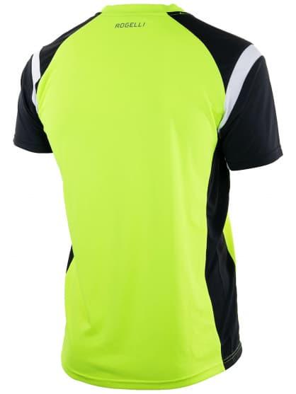Funkcjonalna koszulka Rogelli DUTTON, żółto-czarno-biała odblaskowa