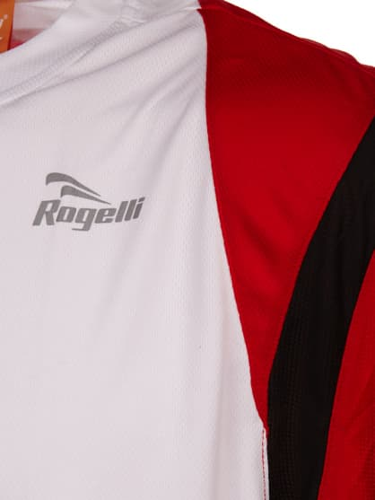 Funkcjonalna koszulka Rogelli DUTTON, biało-czarno-czerwona