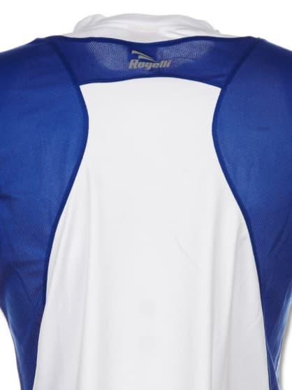 Funkcjonalna koszulka Rogelli DUTTON, biało-czarno-niebieska