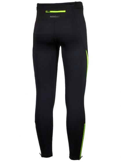 Spodnie do biegania Rogelli DUNBAR, czarno-żółte odblaskowe