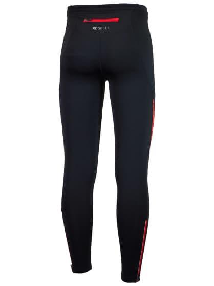 Spodnie do biegania Rogelli DUNBAR, czarno-czerwone