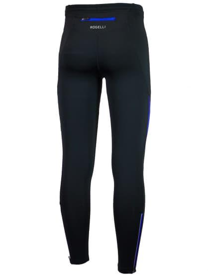 Spodnie do biegania Rogelli DUNBAR, czarno-niebieskie