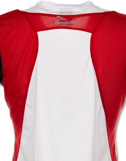 Funkcjonalna koszulka Rogelli EABEL damska, biało-czerwono-czarna