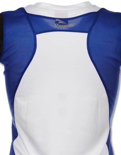 Funkcjonalna koszulka Rogelli EABEL damska, biało-niebiesko-czarna