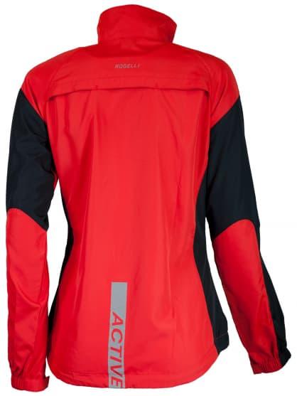 Wiatrówka do biegania Rogelli ELVI damska, czerwono-czarna