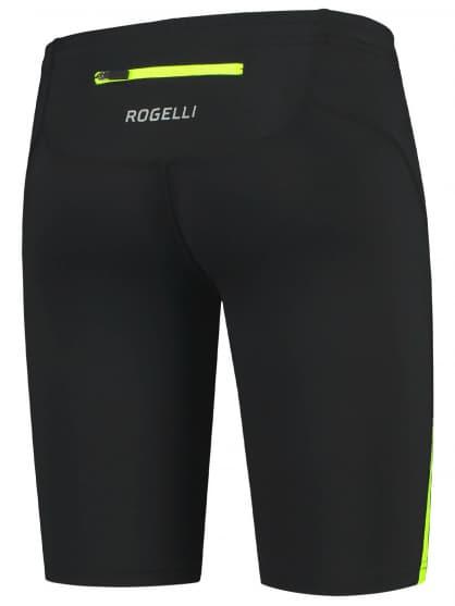 Spodenki do biegania Rogelli DIXON, czarno-żółte odblaskowe