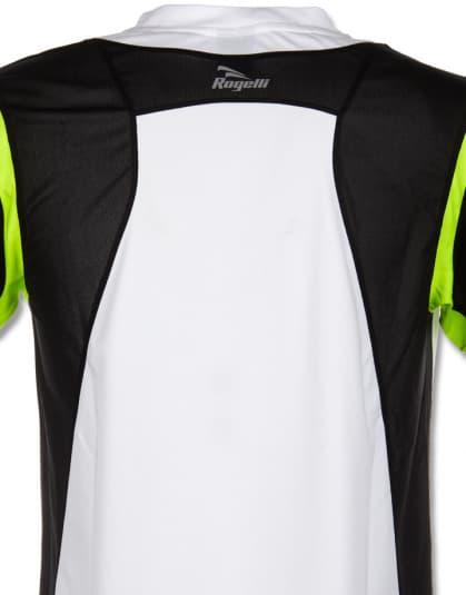 Funkcjonalna koszulka Rogelli DUTTON, biało-czarno-żółta odblaskowa