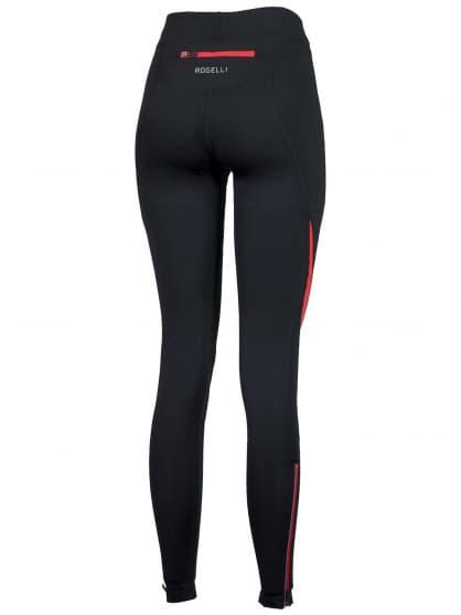 Spodnie do biegania Rogelli EMNA damskie, czarno-czerwone