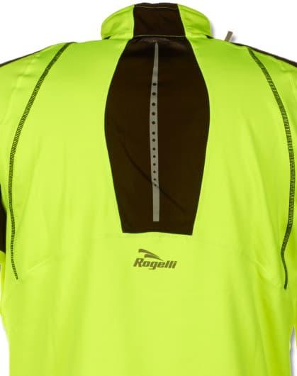 Sportowa bluza Rogelli POSEIDON, czarno-żółta odblaskowa