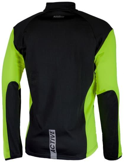 Bluza sportowa Rogelli DILLON, czarno-żółta odblaskowa