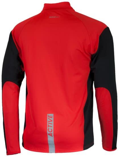 Bluza sportowa Rogelli DILLON, czerwono-czarna