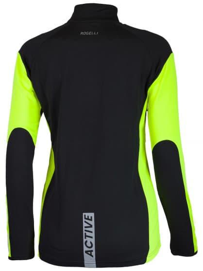 Sportowa bluza Rogelli ELKA damska, czarno-żółta odblaskowa