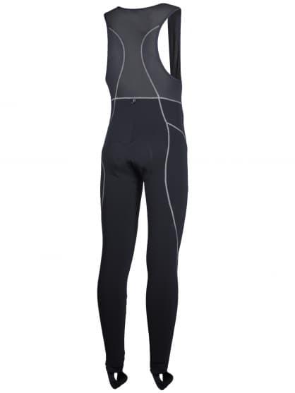 Ocieplane spodnie rowerowe z zamkiem na brzuchu Rogelli BARASSO z wkładką żelową, czarne