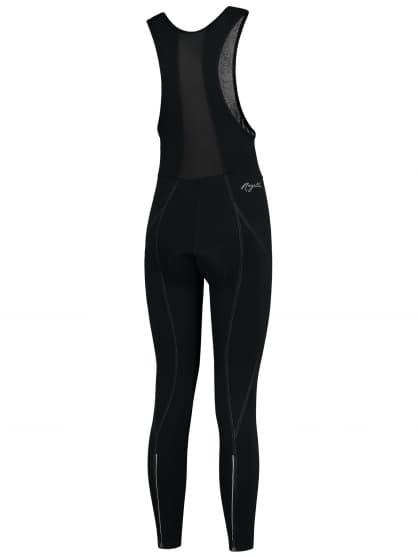 Damskie spodnie rowerowe na szelkach Rogelli LIONA z wkładką żelową, czarne
