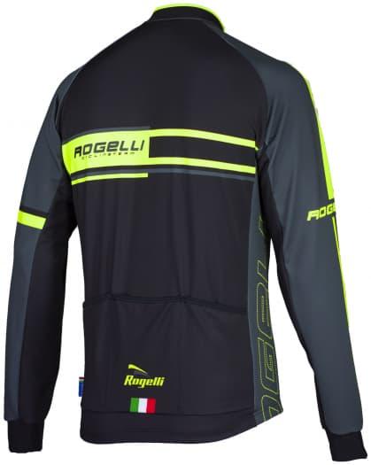 Koszulka rowerowa Rogelli ANDRANO, długi rękaw, żółta odblaskowa