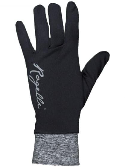 Extra cienkie rękawiczki Rogelli MARTA damskie, czarno-szare