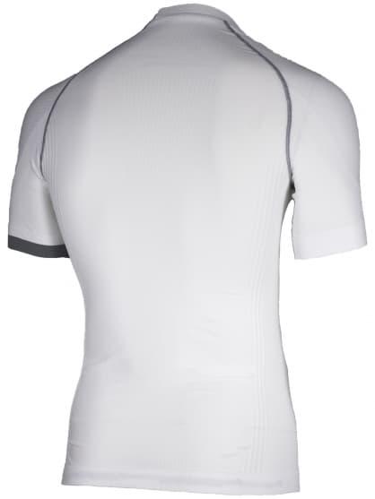 Funkcjonalny KOMPRESYJNY T-shirt Rogelli, krótki rękaw, biało-szary