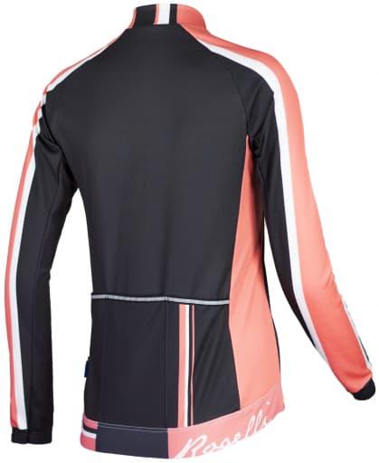 Koszulka kolarska Rogelli SALISA damska, długi rękaw, łososiowa