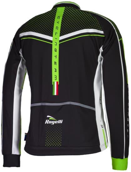 Koszulka rowerowa Rogelli GARA MOSTRO z długim rękawem, zielona