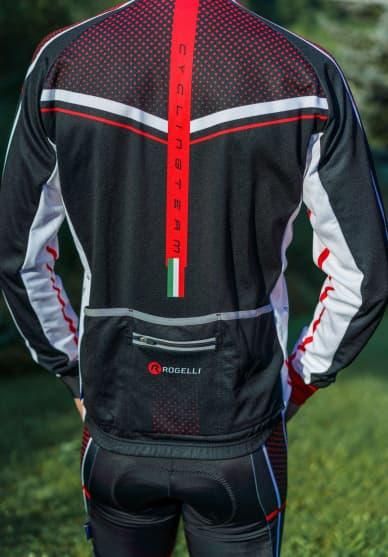 Koszulka rowerowa Rogelli GARA MOSTRO z długim rękawem, czerwona