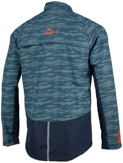 Męska kurtka do biegania Rogelli BROADWAY, niebiesko-czerwona