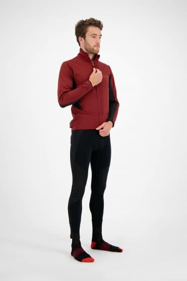 Zimowe softshellowe spodnie kolarskie Rogelli ARTICO z ochroną brzucha, czarne