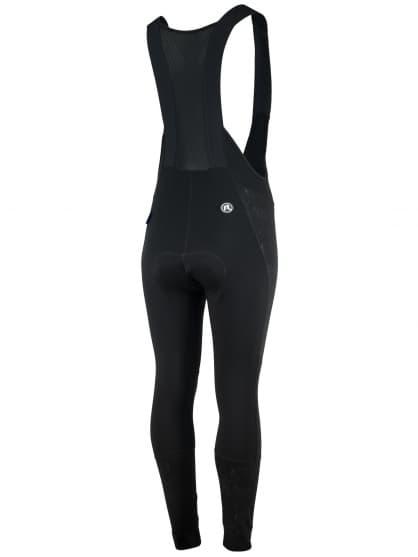 Damskie zimowe spodnie kolarskie z elementami odblaskowymi Rogelli VENOSA 3.0 z ochroną kolan i brzucha, czarne
