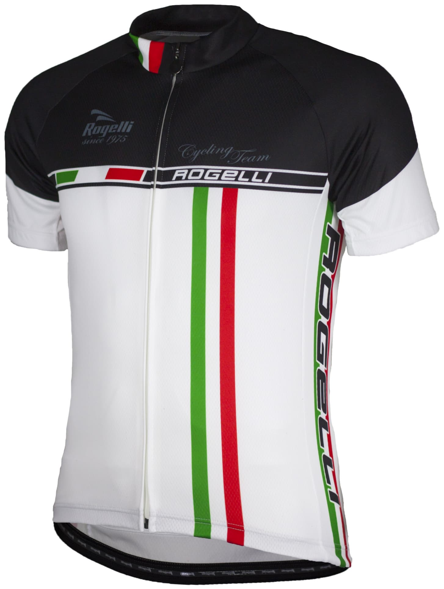 Koszulka kolarska z możliwością nadruku Rogelli SOLID, biała