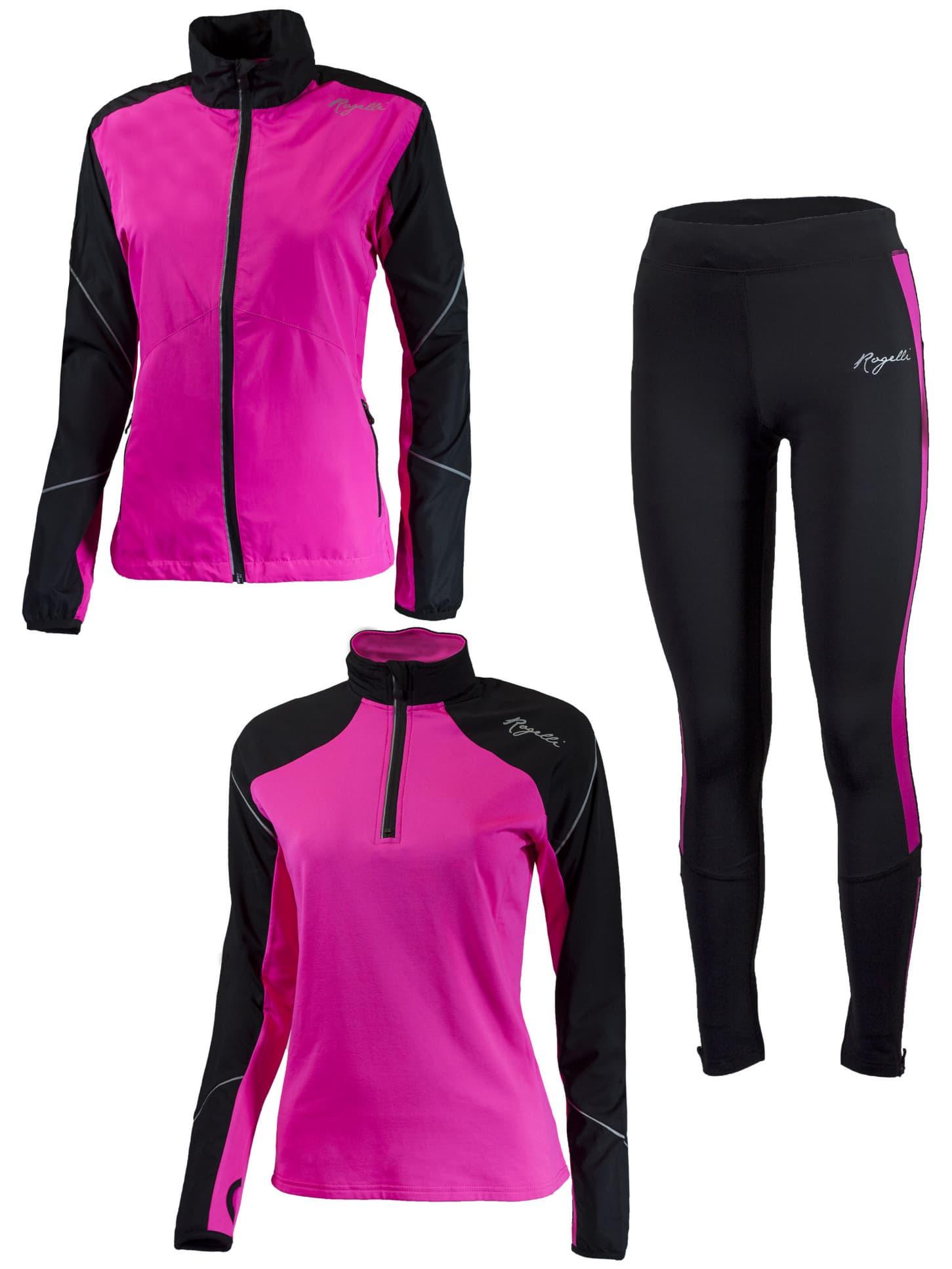 Funkcjonalna odzież Rogelli VISION 2.0 damska, różowo czarna