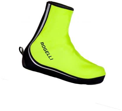 587436b81a608d Nieprzemakalne wiatroszczelne ochraniacze kolarskie ze wzmocnionymi palcami  Rogelli ASPETTO, żółte odblaskowe