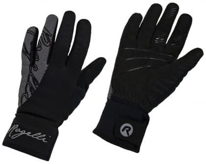 2af170e18 Zimowe damskie rękawice softshellowe Rogelli FLASH z dużym odblaskowym  nadrukiem, ...